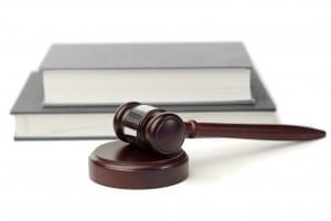 Nevada Corporation Lawyer Gavel and grey books