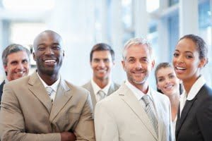 Portrait of happy multiracial business colleagues reno corporate services attorney